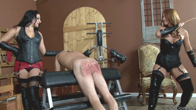 Leather-Strapping-Plus-Caning-The-Servant