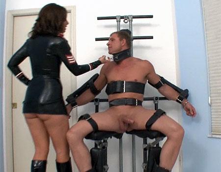femdom bondage male milking
